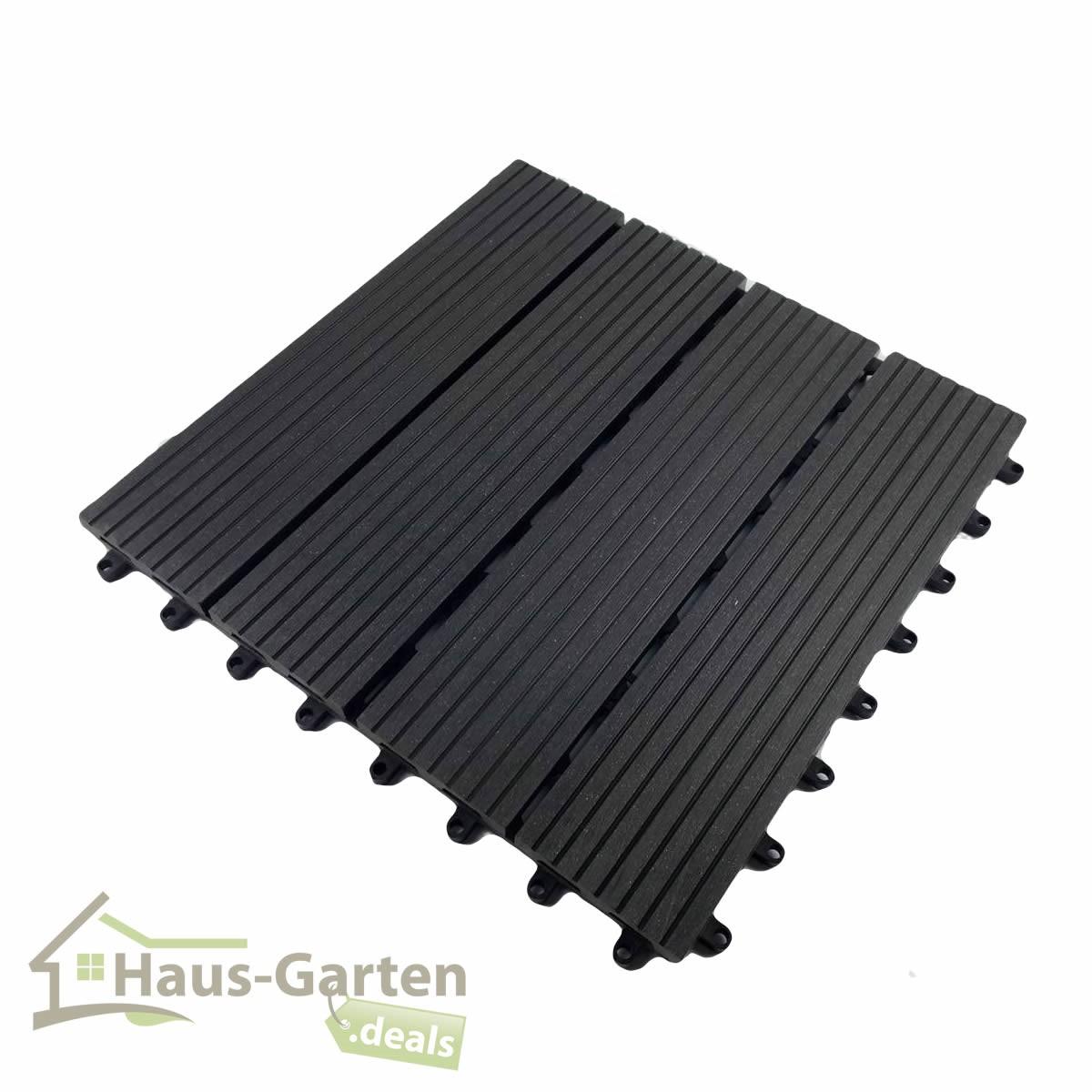 Balkon Fliesen Holz Reinigen ~   ) WPC Holz Fliesen Farbe dunkelgrau für Terasse Garten Balkon  eBay