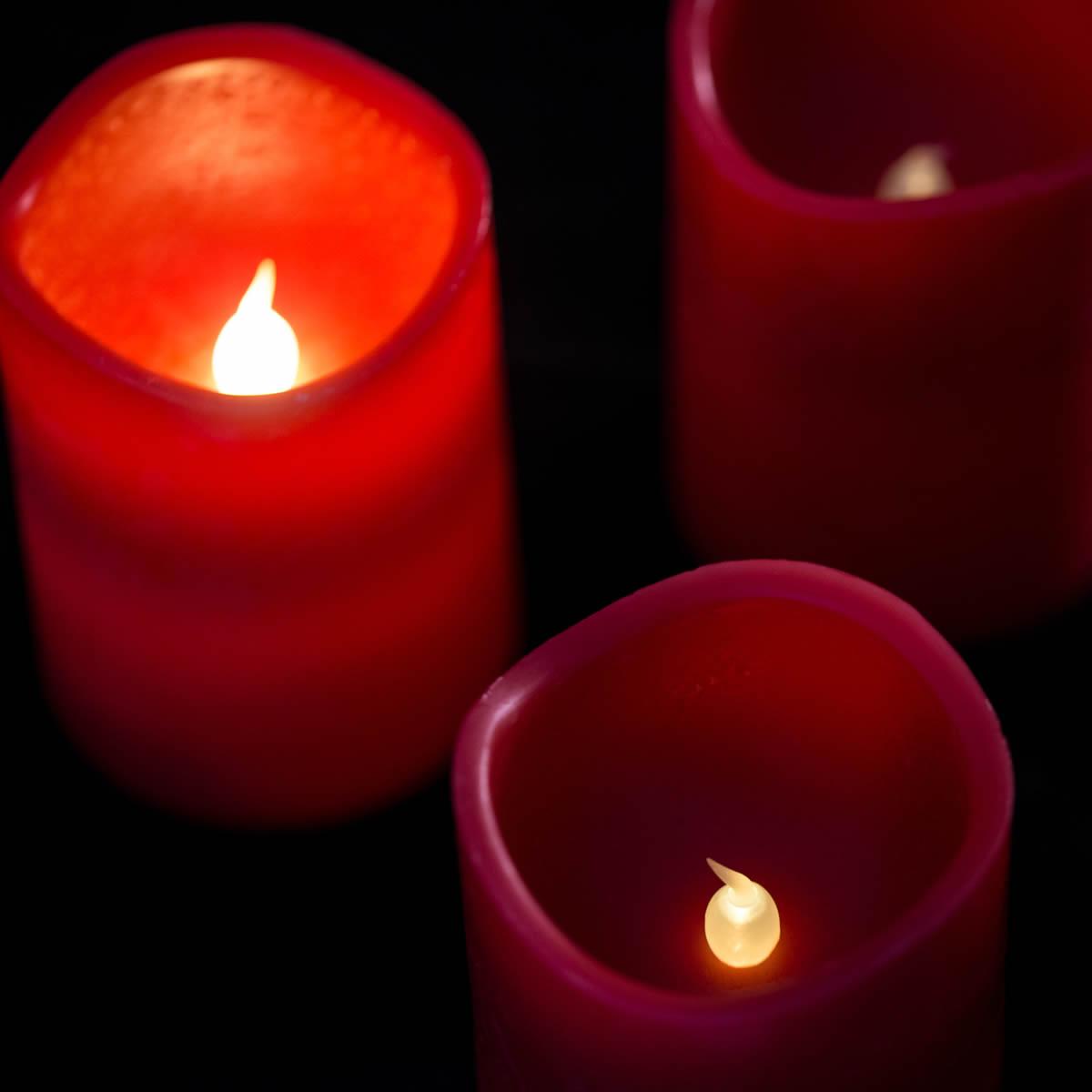 4er set led adventskerzen rot mit fernbedienung kerzenset - Gartenstuhle 4er set ...