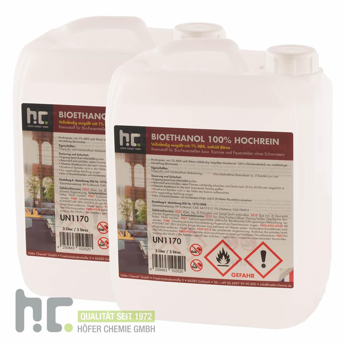 4 x 5 l bio ethanol 100 bioethanol brennstoff f kamin 20 liter ebay. Black Bedroom Furniture Sets. Home Design Ideas
